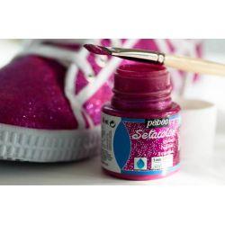 Pébéo Setacolor, Colori per Tessuti Chiari, Glitter e Fluo