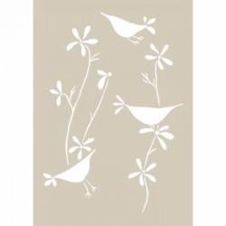 Fleur, Stencil Uccelli Canterini