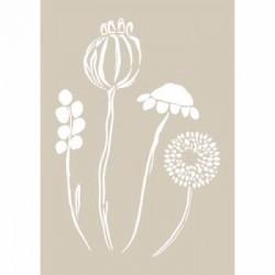 Fleur, Stencil Fiori Stilizzati
