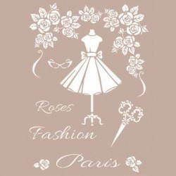 Stencil Rose Fashion Paris