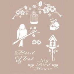 stencil My bird house