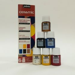 Pébéo Ceramic, Kit Scoperta 6 x 20ml