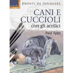 Cani e cuccioli con gli acrilici