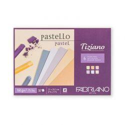 Blocco Disegno Fabriano Tiziano Colori Tenui 160gr.