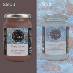 Pittura Effetto Rame Chiaro Fleur, Base + Reagente