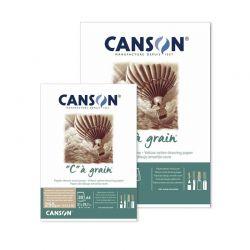 """Blocco Carta Disegno Canson """"C"""" à Grain, Color Ocra"""