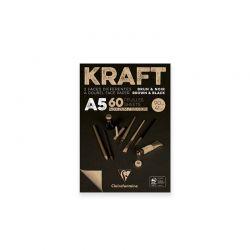 Carta Kraft Bicolore Blocco Clairefontaine, 90gr.