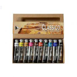 Colori Primari Olio Maimeri Classico, Set 10pz. x 20ml