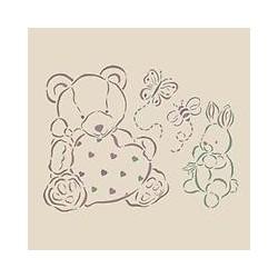 Stencil Orso e coniglietto