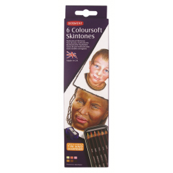 Derwent Watersoluble Coloursoft Skintones, Confezione 6 pz.