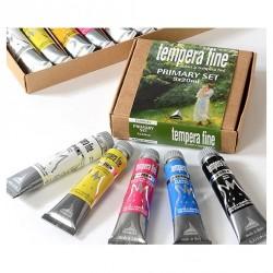 """Set 5 tubi colori primari """"Tempera fine"""""""