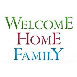 Stamperia, Stencil Welcome Home Family