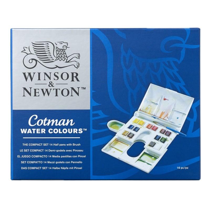 """Conf. Winsor & Newton """"Cotman"""" 14 pz. 1/2 godet"""