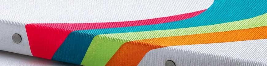 Tele per dipingere; in fibra naturale o sintetica